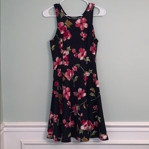 Floral navy dress, only worn once